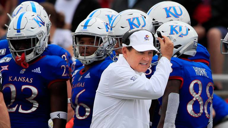Les Miles — 6 games in — has fired his offensive coordinator. What it means for KU